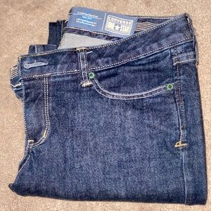 Converse size 8 jeans reg fit never worn